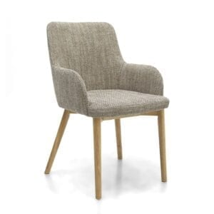 Shaw Tweed Oatmeal Dining Chair