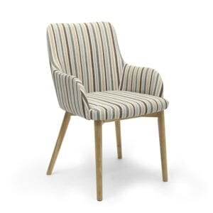 Shaw Chenille Stripe Duck Egg Dining Chair