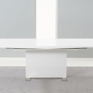 Parilo 150cm Extending to 210cm Solid Wood with White High Gloss Finish