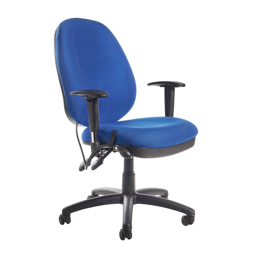 Oban Blue Padded Swivel Office Chair