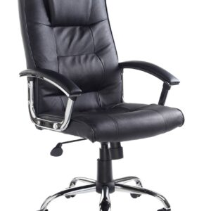 Hamp Leather Faced Executive Swivel Office Chair