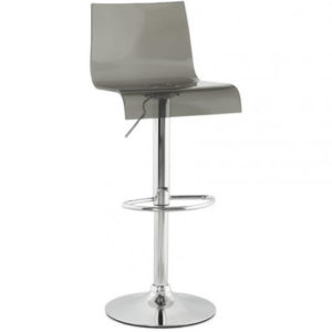 Hawline Acrylic Kitchen Bar Stool Height Adjustable Swivel Seat