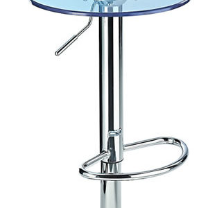 Kresty Blue Transparent Acrylic Perspex Bar Stool