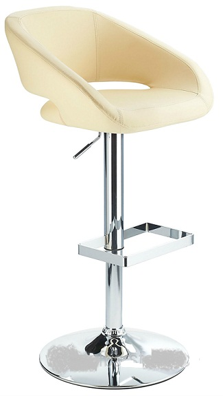 Active Adjustable Modern Bar Stool Cream Padded Seat And Back