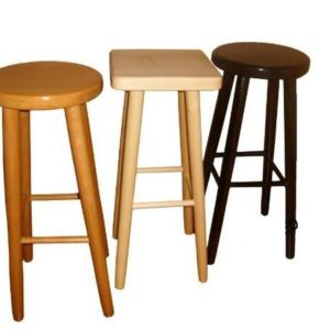Parson Square Wooden Alder Kitchen Breakfast Bar Stool Fully Assembled