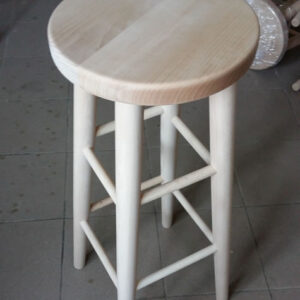 Parson Tall High Wooden Kitchen Dining Stool Natural Beech