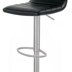 Aydon Brushed Steel Bar Stool Adjustable Padded Seat
