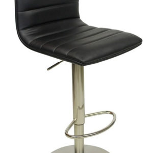Alpino Deluxe Kitchen Breakfast Bar Stool Weighted Base Height Adjustable Padded Seat And Back