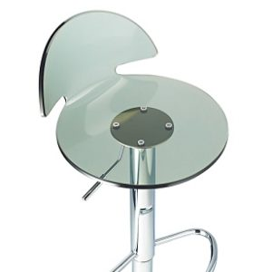 Lauter Height Adjustable Acrylic Bar Stool