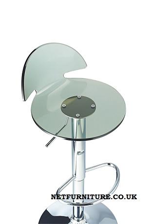 Lauter Height Adjustable Acrylic Bar Stool