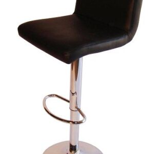 Tenor Kitchen Breakfast Bar Stool Padded Black Seat Low Back Height Adjustable
