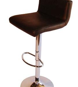Tenor Kitchen Breakfast Bar Stool Padded Brown Seat Low Back Height Adjustable