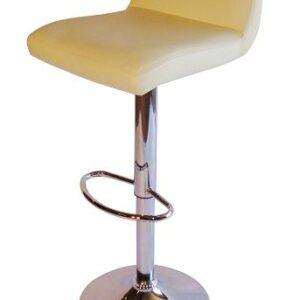 Tenor Kitchen Breakfast Bar Stool Padded Cream Seat Low Back Height Adjustable