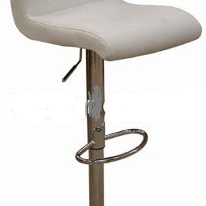 Tenor Kitchen Breakfast Bar Stool Padded White Seat Low Back Height Adjustable