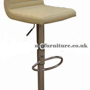 Serene Cream Kitchen Bar Stool Padded Seat And Back Height Adjustable