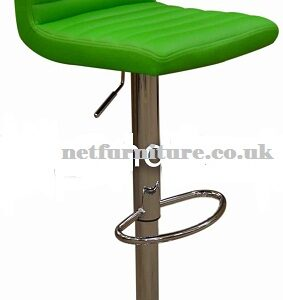 Serene Green Kitchen Bar Stool Padded Seat And Back Height Adjustable