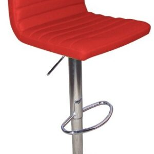 Serene Red Kitchen Bar Stool Padded Seat And Back Height Adjustable