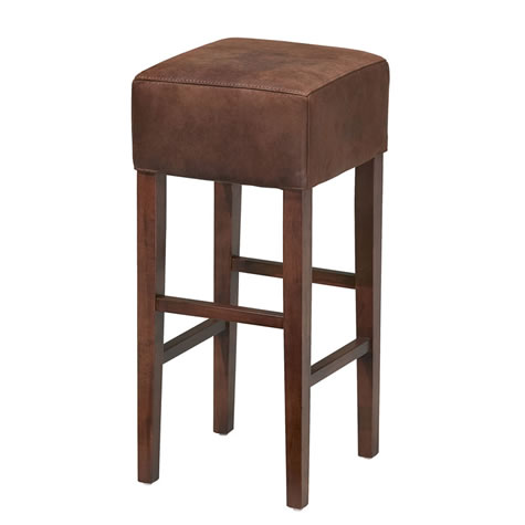 Asprey Leather Padded Suede Effect Stool