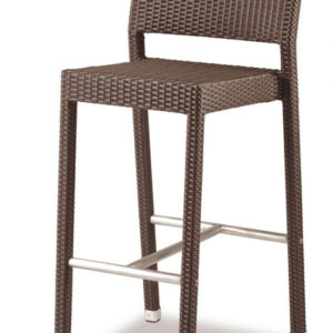 Pirer Stacking Wicker Weave Fixed Height Indoor/Outdoor Barstool Fully Assembled 3 Colours