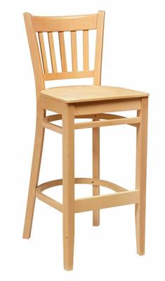 Sensational Quality Gredile Beech Wood High Back Bar Stool Fully Assembled Dailytribune Chair Design For Home Dailytribuneorg