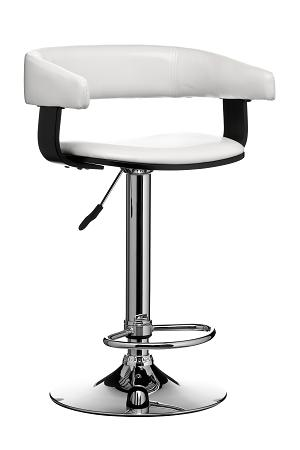 Cool Promos Adjustable Bar Stool Chair Black Wood And Pvc Leather Gmtry Best Dining Table And Chair Ideas Images Gmtryco
