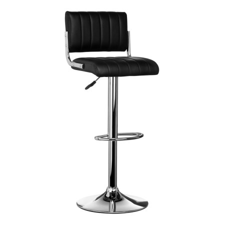 Sally Stool Kitchen Padded Faux Leather And Chrome - Adjustable Height