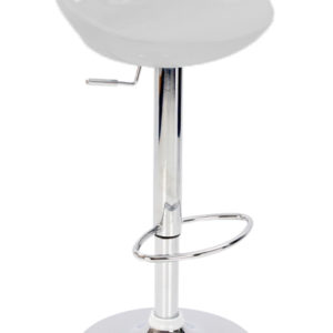 Nuovo Kitchen Bar Stool Silver Abs Seat Height Adjustable Swivel Seat