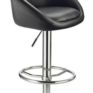 Bert Adjustable Kitchen Bar Stool Black Tub Seat Height Adjustable