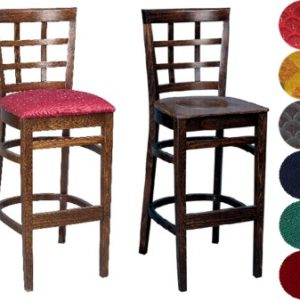 Estra Wood Bar Stool Padded Unpadded Seat Fully Pre Assembled