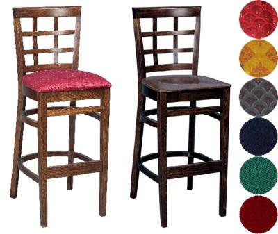 Estra Wood Bar Stool Padded Unpadded Seat Fully Pre Assembled
