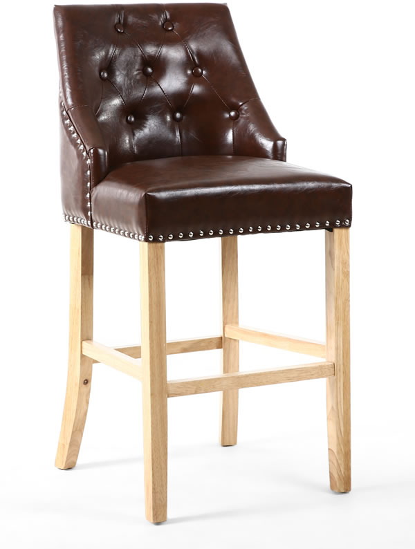 Camberly Buttoned Back Fully Assembled Bar Chair
