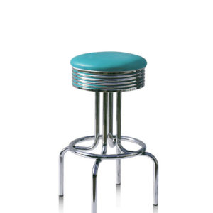Florida Quality Retro Fifties Style Kitchen Breakfast Bar Stool Swivel Seat Various Colours Pre Assembled