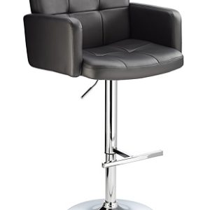 Picard Retro Height Adjustable Bar Chair - High Arm Rests And Back