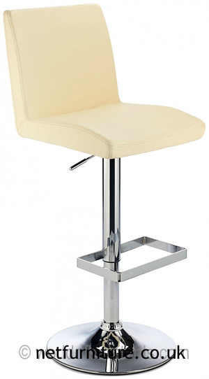 Caldew Height Adjustable Kitchen Bar Stool - With Padded Swivel Seat