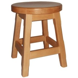 Balmeno Fully Assembled Wooden Low Bar Stools x 2- Natural Finish
