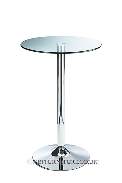 Clique Clear Glass Bar Table Fixed Height With Safety Glass