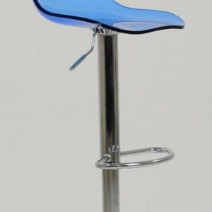 Haley Blue Acrylic Perspex Kitchen Breakfast Bar Stool Height Adjustable