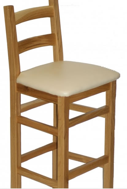 Crafty Solid Wood Bar Stool Fully Assembled Made To Measure Height Option