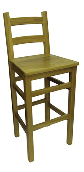 Crafty Solid Oak Wood Bar Stool Fully Assembled Made To Measure Height Option