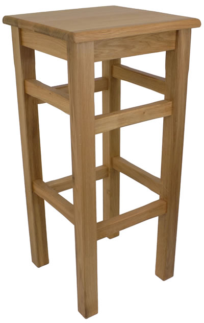 Crafty Oak Solid Wood Bar Stool Fully Assembled Made To Measure Height Option