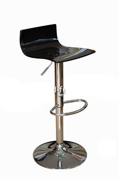 Marquis Black Acrylic Perspex Kitchen Bar Stool Height Adjustable