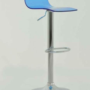 Marquis Blue Acrylic Perspex Kitchen Bar Stool Height Adjustable