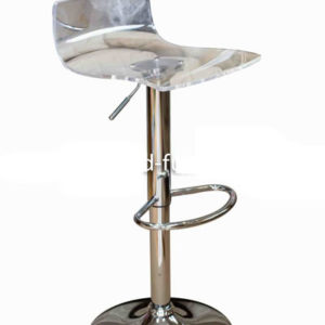 Marquis Clear Acrylic Perspex Kitchen Bar Stool Height Adjustable