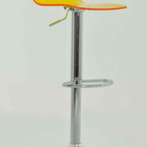 Marquis Orange Acrylic Perspex Kitchen Bar Stool Height Adjustable