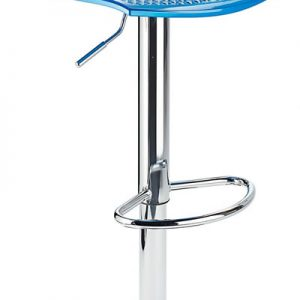 Blazar Blue Modern Kitchen Bar Stool Height Adjustable