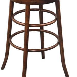 Famereg Walnut Wood Frame High Bar Stool Fully Assembled