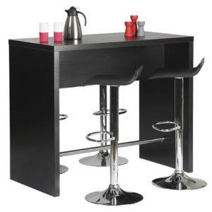 Copac Danish Made Black Ash Melamine Bar Table - Black
