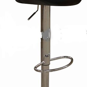 Star Kitchen Breakfast Bar Stool Padded Black Seat Height Adjustable Chrome Frame Back Rest