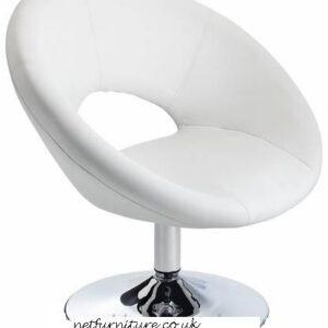 Pharoh White Chair Funky Modern Design Padded