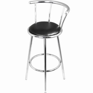 Barbados Chrome Fixed Height Swivel Breakfast Bar Kitchen Stool